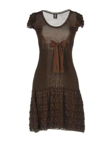 Короткое платье TRICOT CHIC. Цвет: темно-коричневый