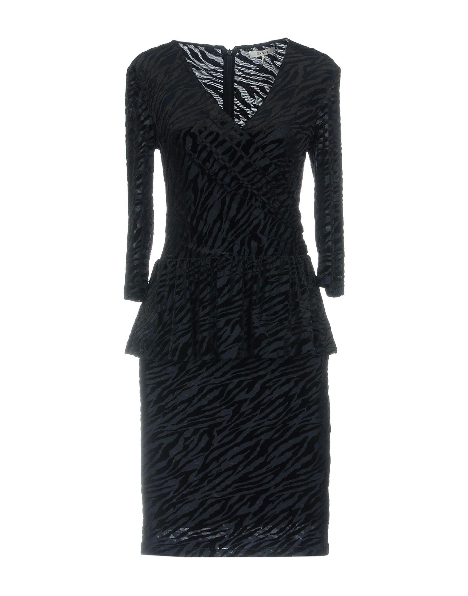 GANNI Короткое платье цены онлайн