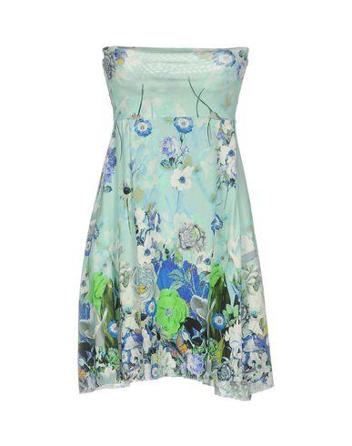 Короткое платье FRANCESCA FERRANTE. Цвет: небесно-голубой