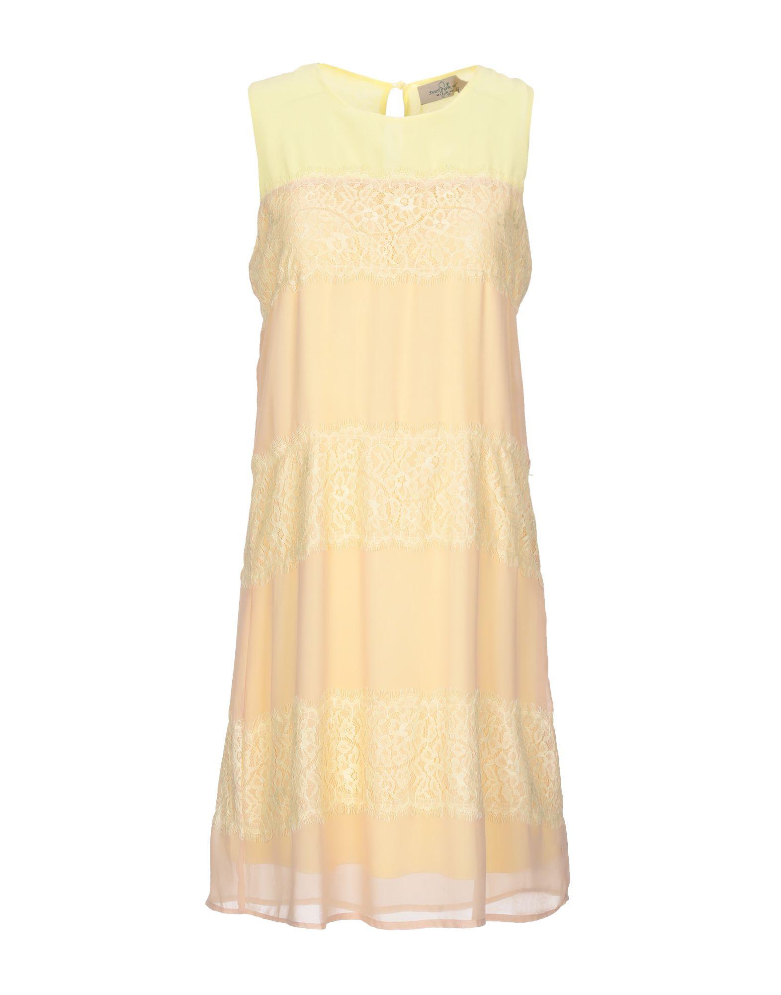 JUST FOR YOU Damen Kurzes Kleid Farbe Gelb Größe 5