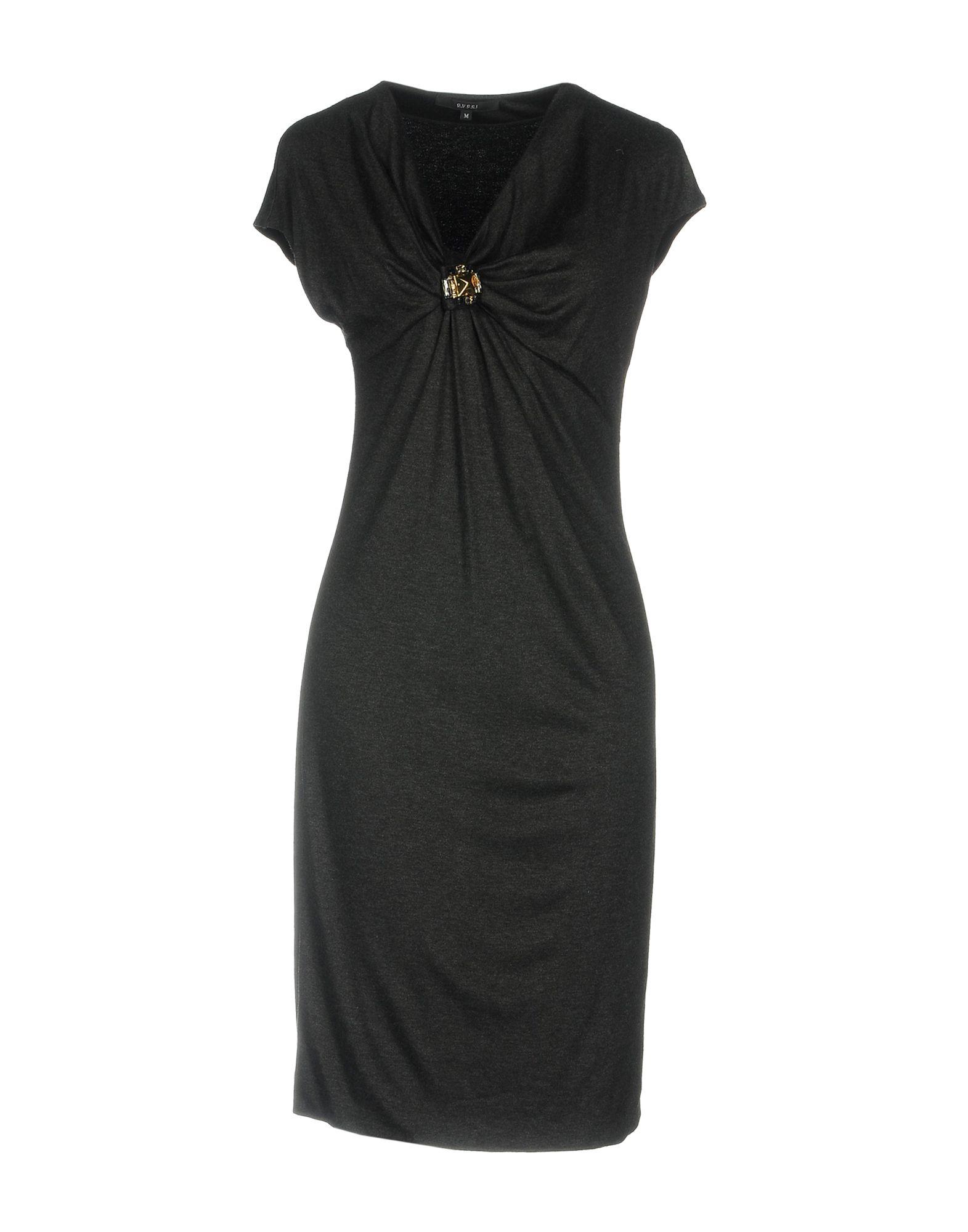 GUCCI Damen Knielanges Kleid Farbe Granitgrau Größe 5