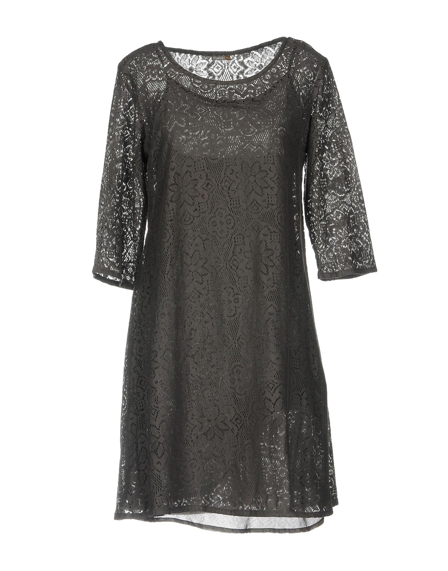 MATTA Short Dress in Lead
