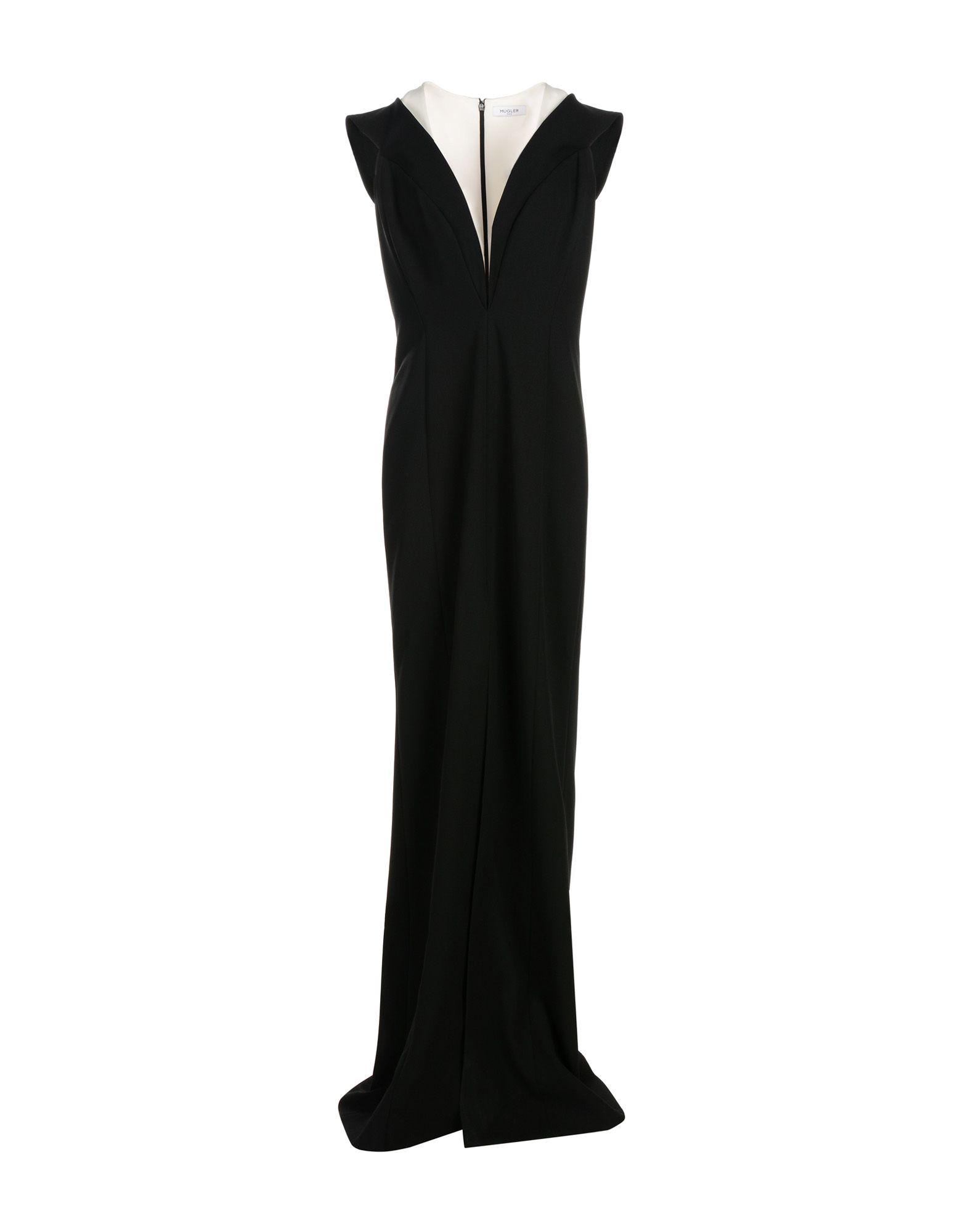 MUGLER Длинное платье платье короткое спереди длинное сзади летнее