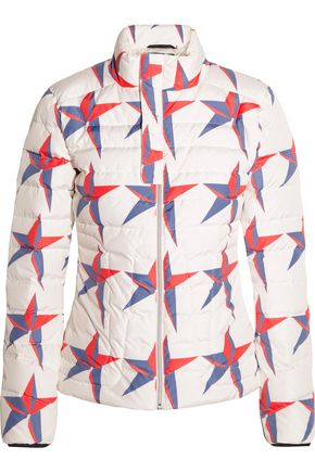 PERFECT MOMENT Mini Duvet II printed quilted down ski jacket