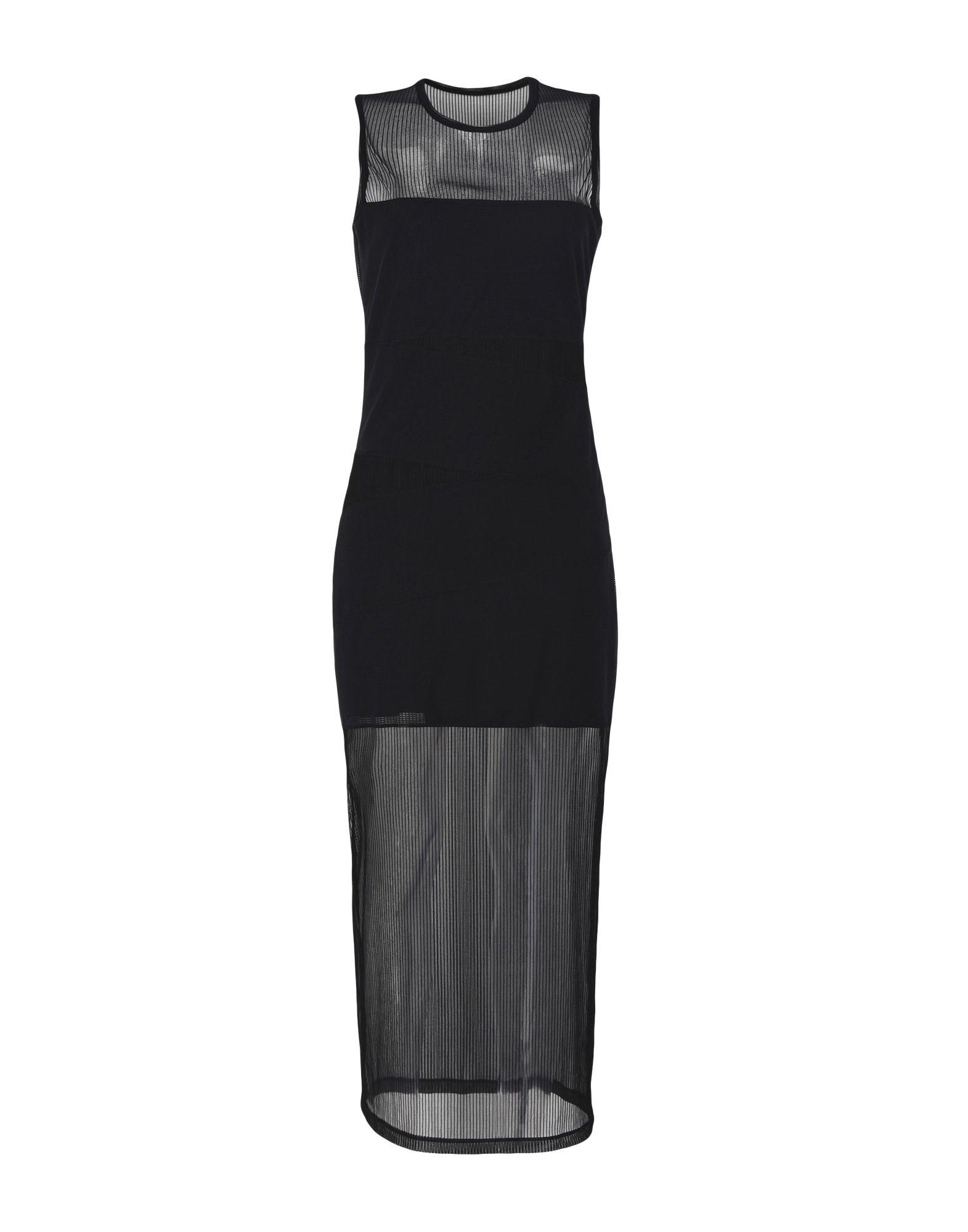 《セール開催中》PINKO レディース ロングワンピース&ドレス ブラック M 84% ナイロン 16% ポリウレタン ポリエステル