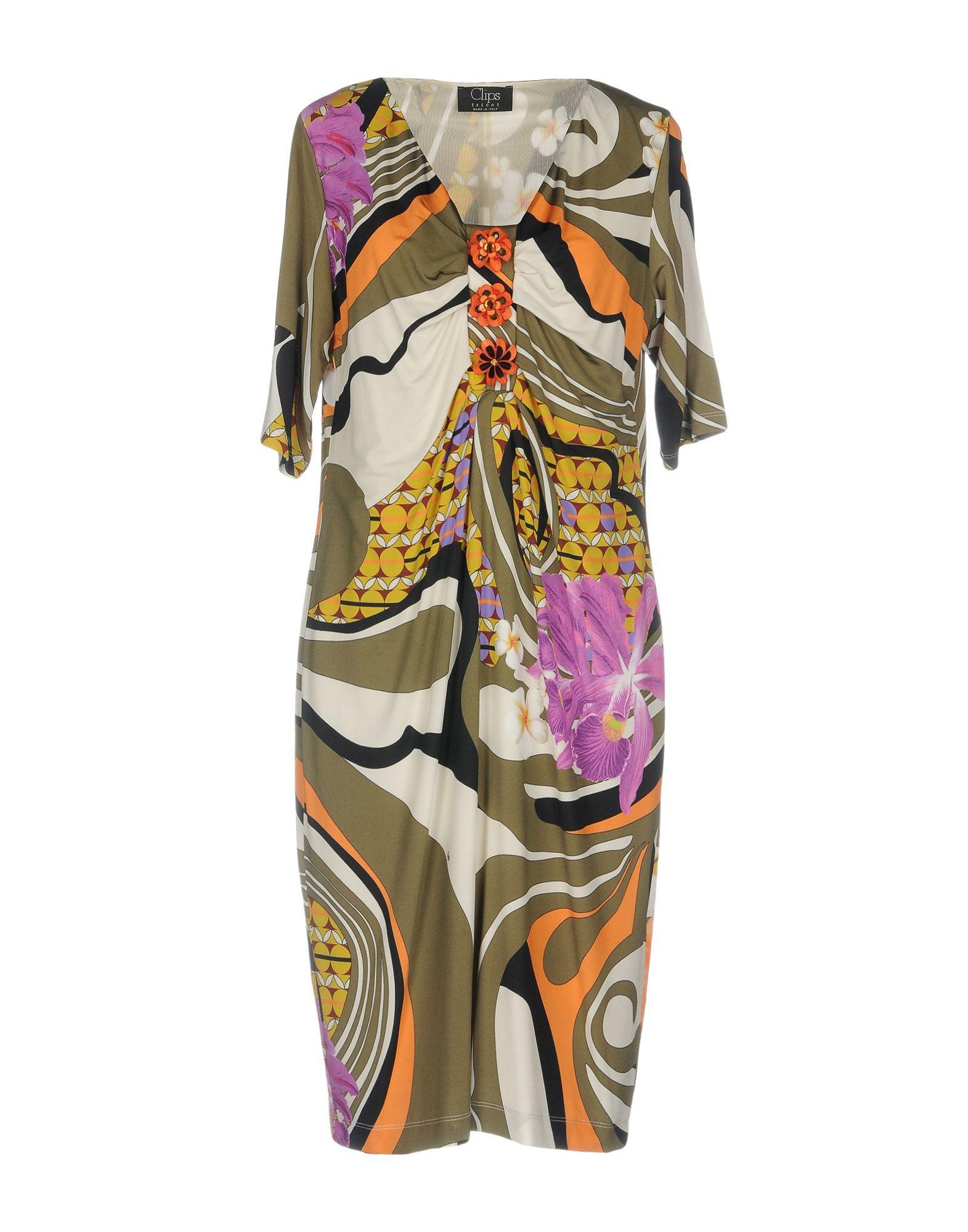 CLIPS Платье до колена paolo casalini платье до колена
