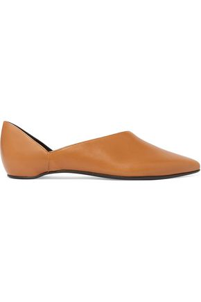 Pierre Hardy Woman Bow-detailed Metallic Leather Slippers Pastel Orange Size 35 Pierre Hardy aTAC4
