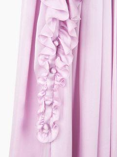 Robe col foulard à volants