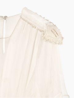 Robe longue à basque