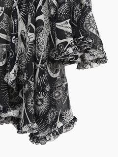 Robe col foulard imprimée
