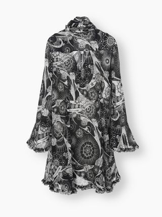 Tiered-sleeve dress