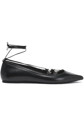 MICHAEL MICHAEL KORS Lace-up leather point-toe flats
