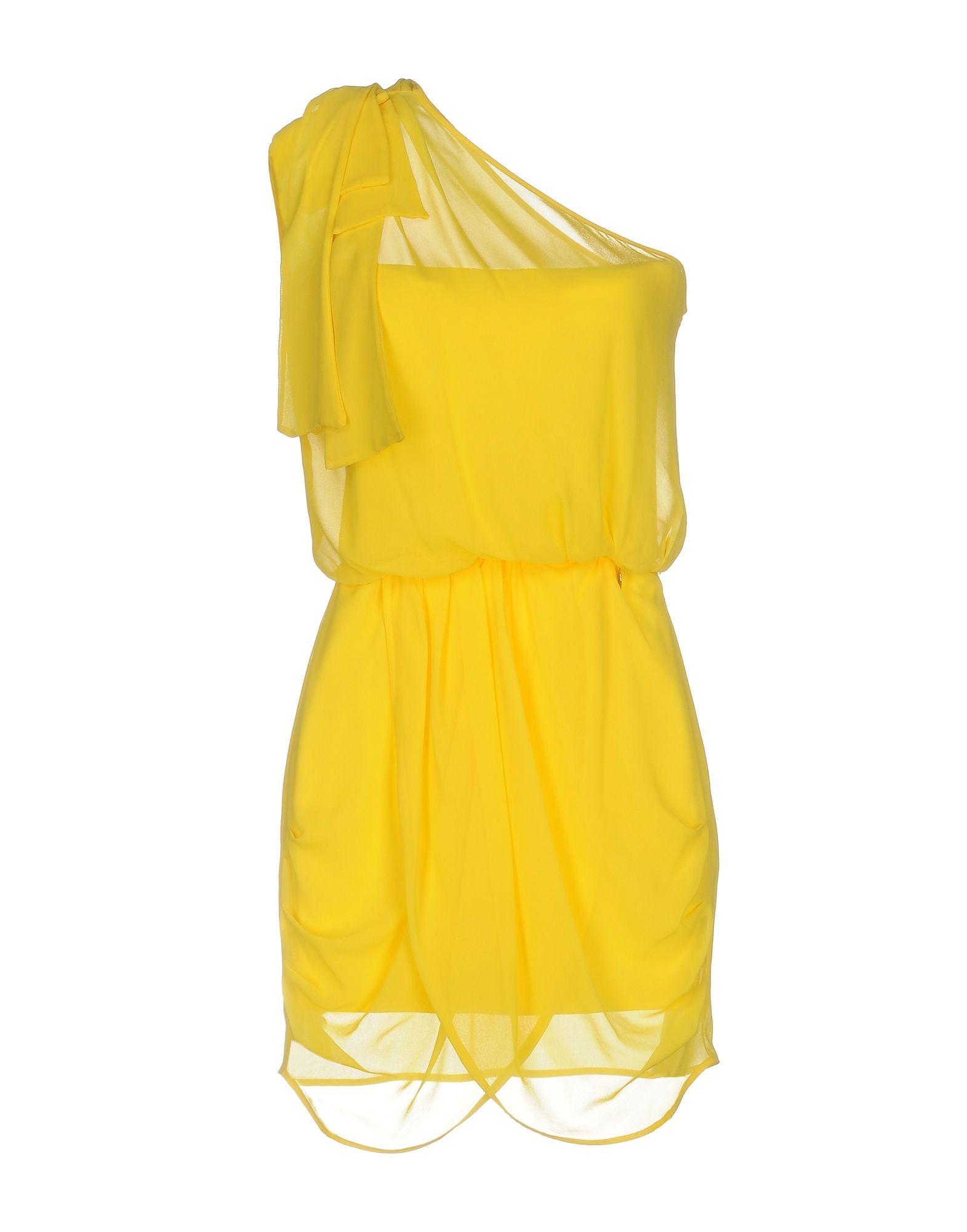 MANGANO Damen Kurzes Kleid Farbe Gelb Größe 6