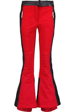 ADIDAS by STELLA McCARTNEY Quilted shell-paneled crepe slim-leg ski pants