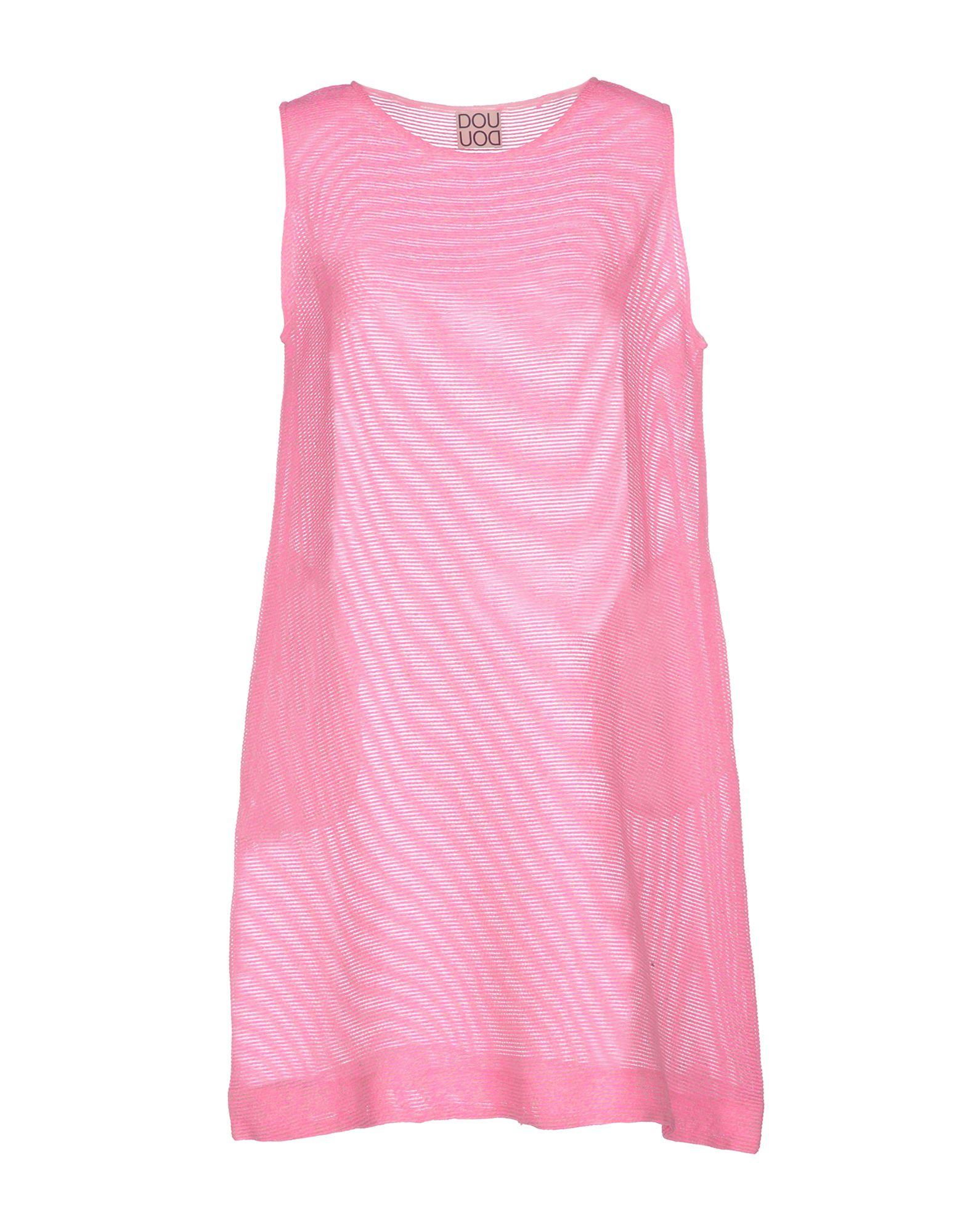 DOUUOD Short Dress in Fuchsia