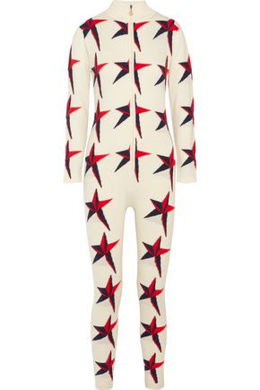 PERFECT MOMENT Star II intarsia merino wool jumpsuit