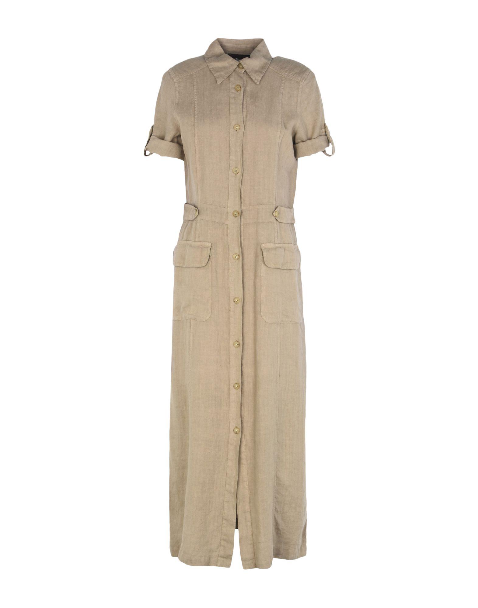 《送料無料》JEANS LES COPAINS レディース ロングワンピース&ドレス ベージュ 44 紡績繊維