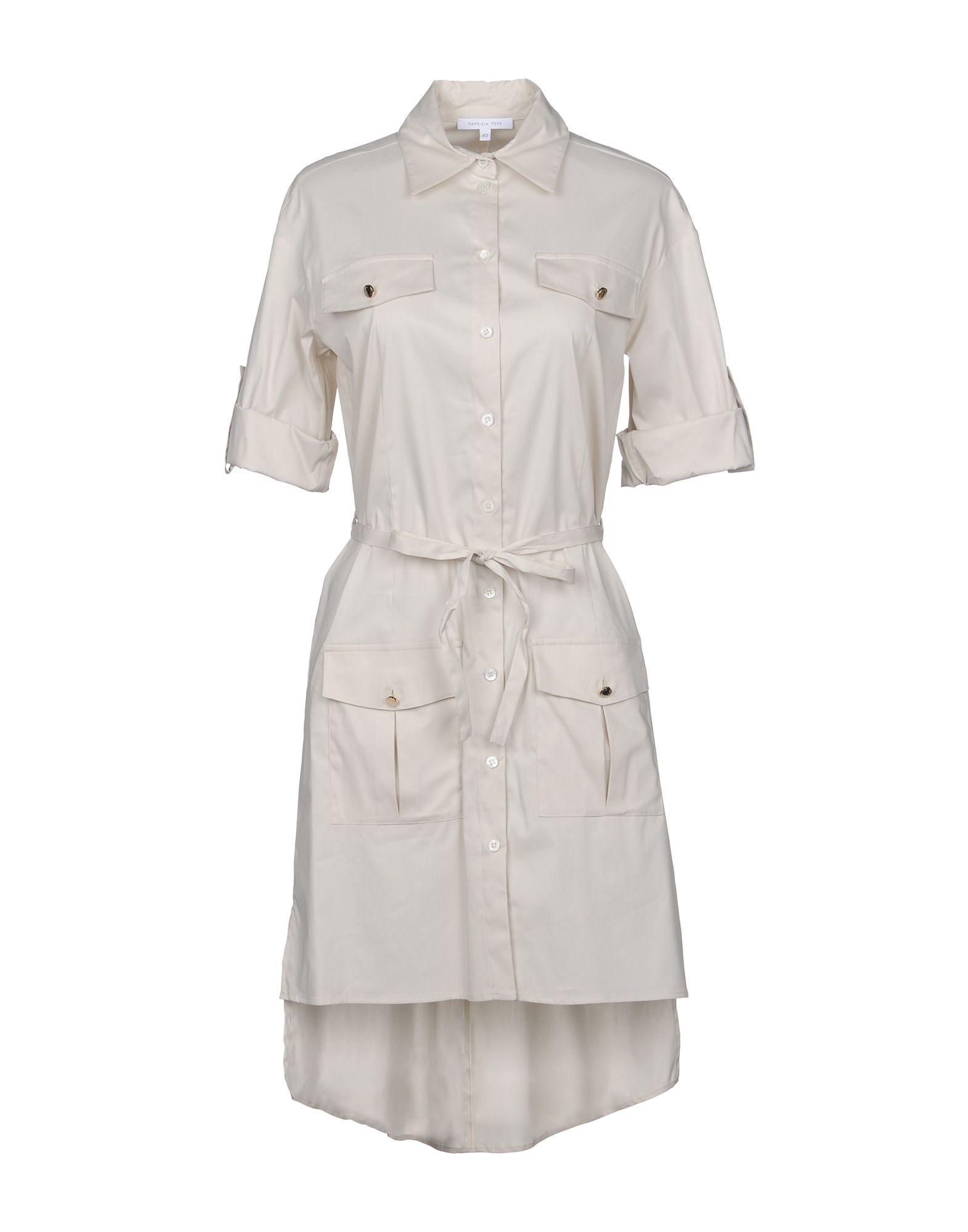 PATRIZIA PEPE Короткое платье patrizia pepe короткое платье из хлопкового поплина стрейч