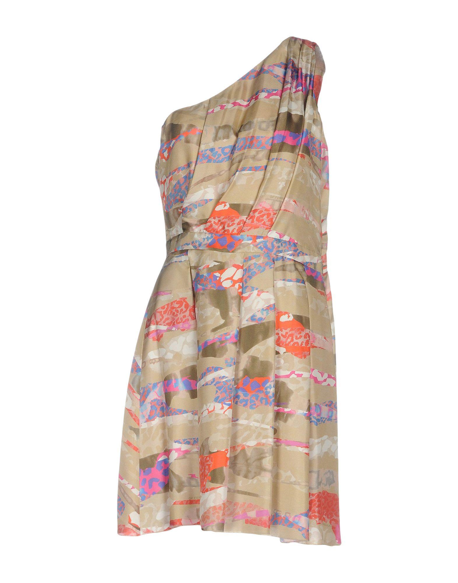 GF FERRE' Короткое платье приталенное платье с застежкой на пуговицы gf ferre платья и сарафаны мини короткие
