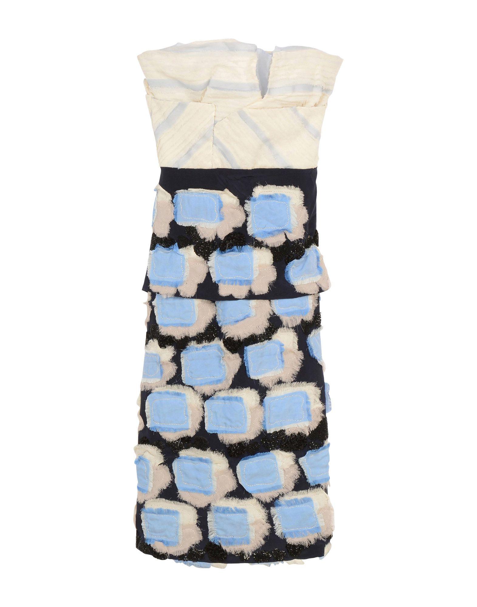 《セール開催中》MICHAEL VAN DER HAM レディース ミニワンピース&ドレス ダークブルー 8 シルク 100%