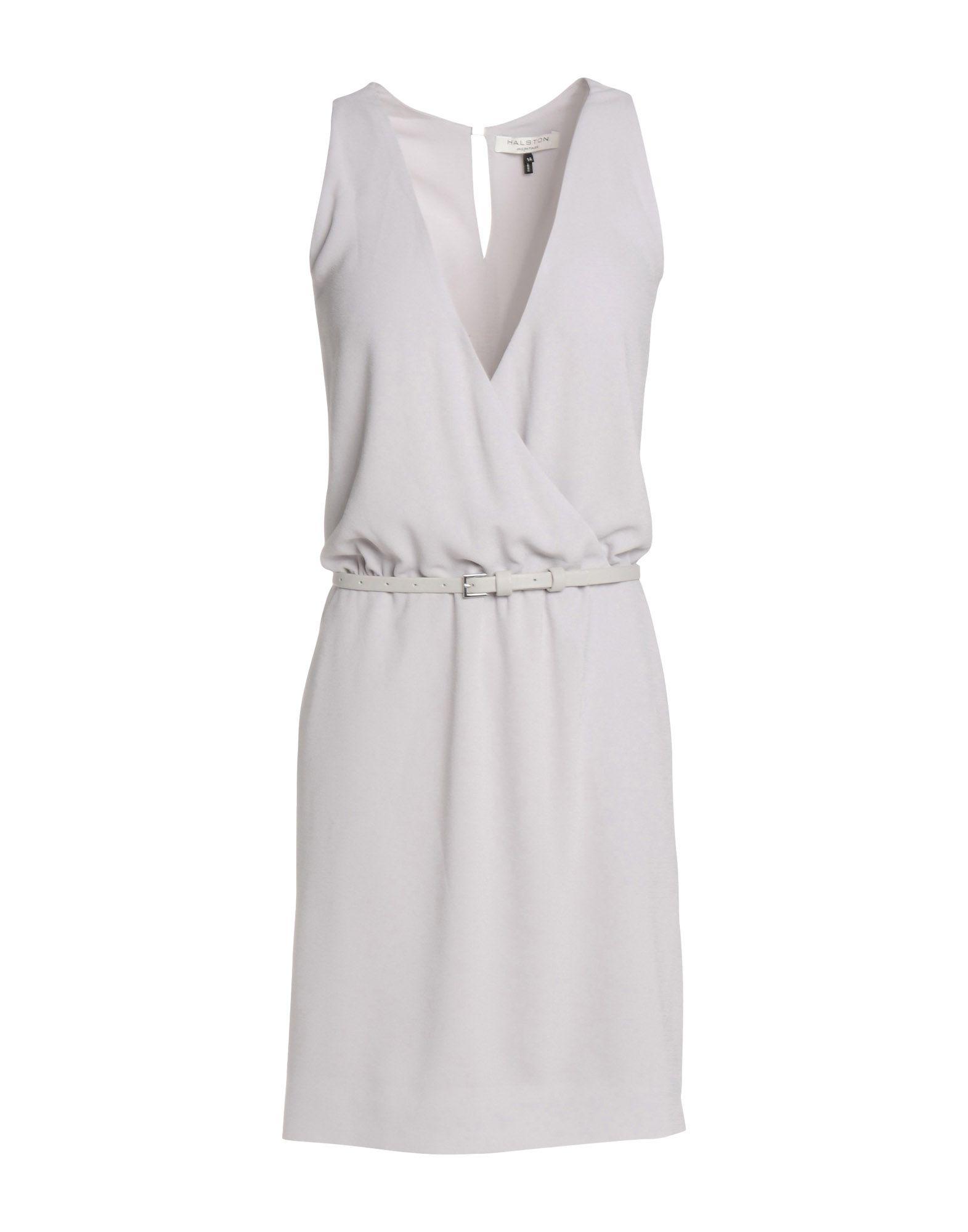 HALSTON HERITAGE Короткое платье halston heritage серое платье из вискозы