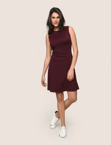 ARMANI EXCHANGE SEAMED FIT-AND-FLARE Mini dress Woman d