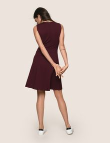 ARMANI EXCHANGE SEAMED FIT-AND-FLARE Mini dress Woman e