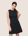 ARMANI EXCHANGE SEAMED FIT-AND-FLARE Mini dress Woman f
