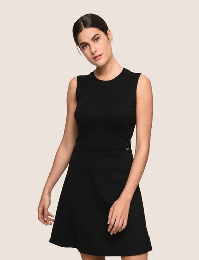 SEAMED FIT-AND-FLARE
