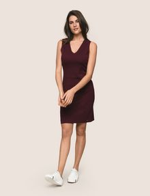 ARMANI EXCHANGE SEAMED V-NECK SHEATH Mini dress Woman d
