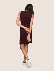 ARMANI EXCHANGE SEAMED V-NECK SHEATH Mini dress Woman e