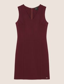 ARMANI EXCHANGE SEAMED V-NECK SHEATH Mini dress Woman r