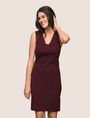 ARMANI EXCHANGE SEAMED V-NECK SHEATH Mini dress Woman f