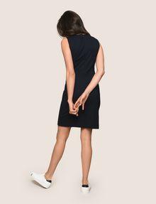 ARMANI EXCHANGE SEAMED V-NECK SHEATH Mini dress Woman e