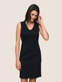ARMANI EXCHANGE SEAMED V-NECK SHEATH Mini dress Woman f