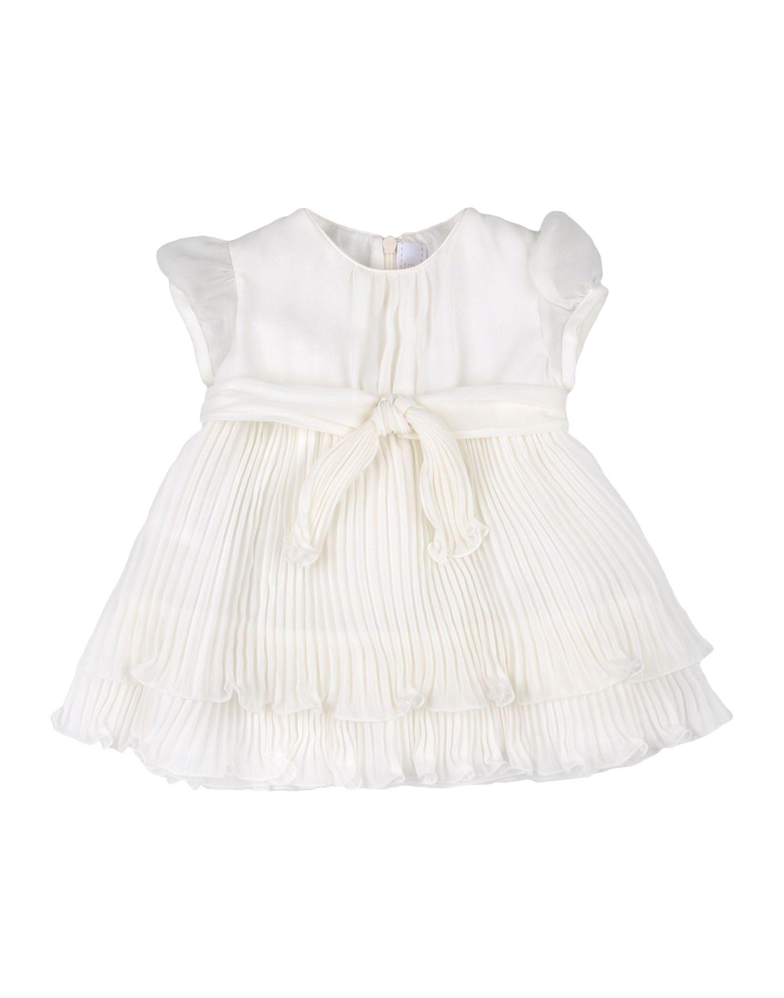 《セール開催中》ALETTA ガールズ 0-24 ヶ月 ワンピース・ドレス ホワイト 9 ポリエステル 100%