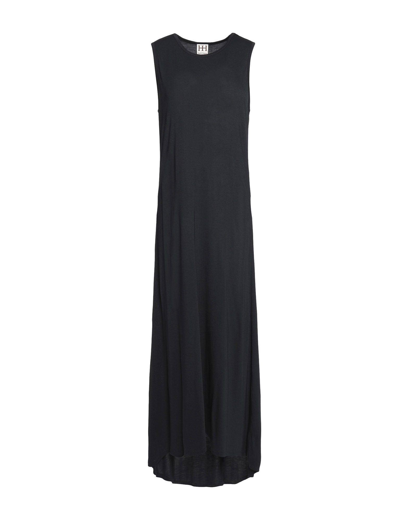 HAUTE HIPPIE Damen Langes Kleid Farbe Schwarz Größe 4