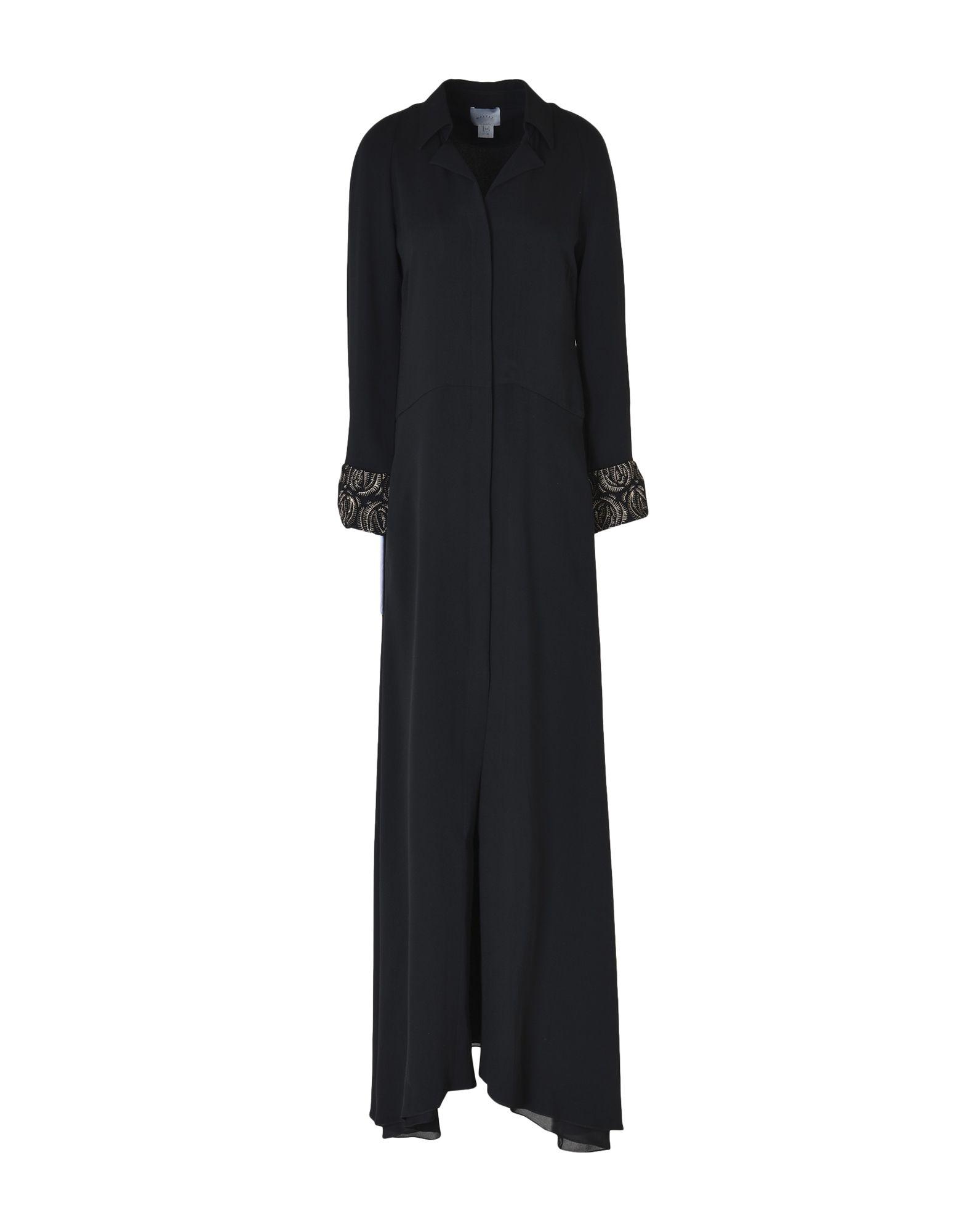 《送料無料》MAIYET レディース ロングワンピース&ドレス ブラック 34 シルク 100%
