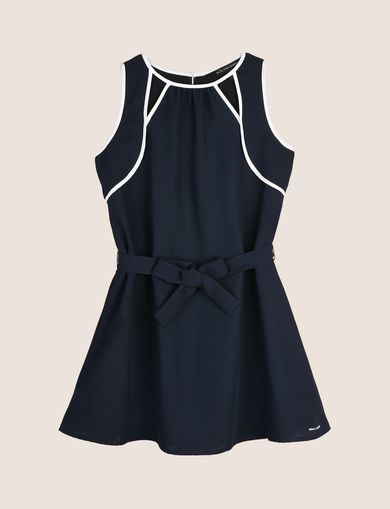 GIRLS SEAM DETAIL SWING DRESS