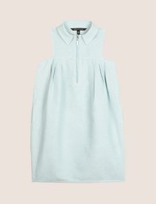 ARMANI EXCHANGE GIRLS LINEN-BLEND ZIP BALLOON DRESS Mini Dress Woman f
