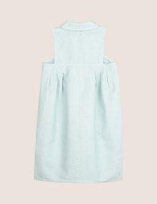 ARMANI EXCHANGE GIRLS LINEN-BLEND ZIP BALLOON DRESS Mini Dress Woman r