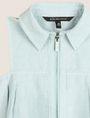 ARMANI EXCHANGE GIRLS LINEN-BLEND ZIP BALLOON DRESS Mini Dress Woman d