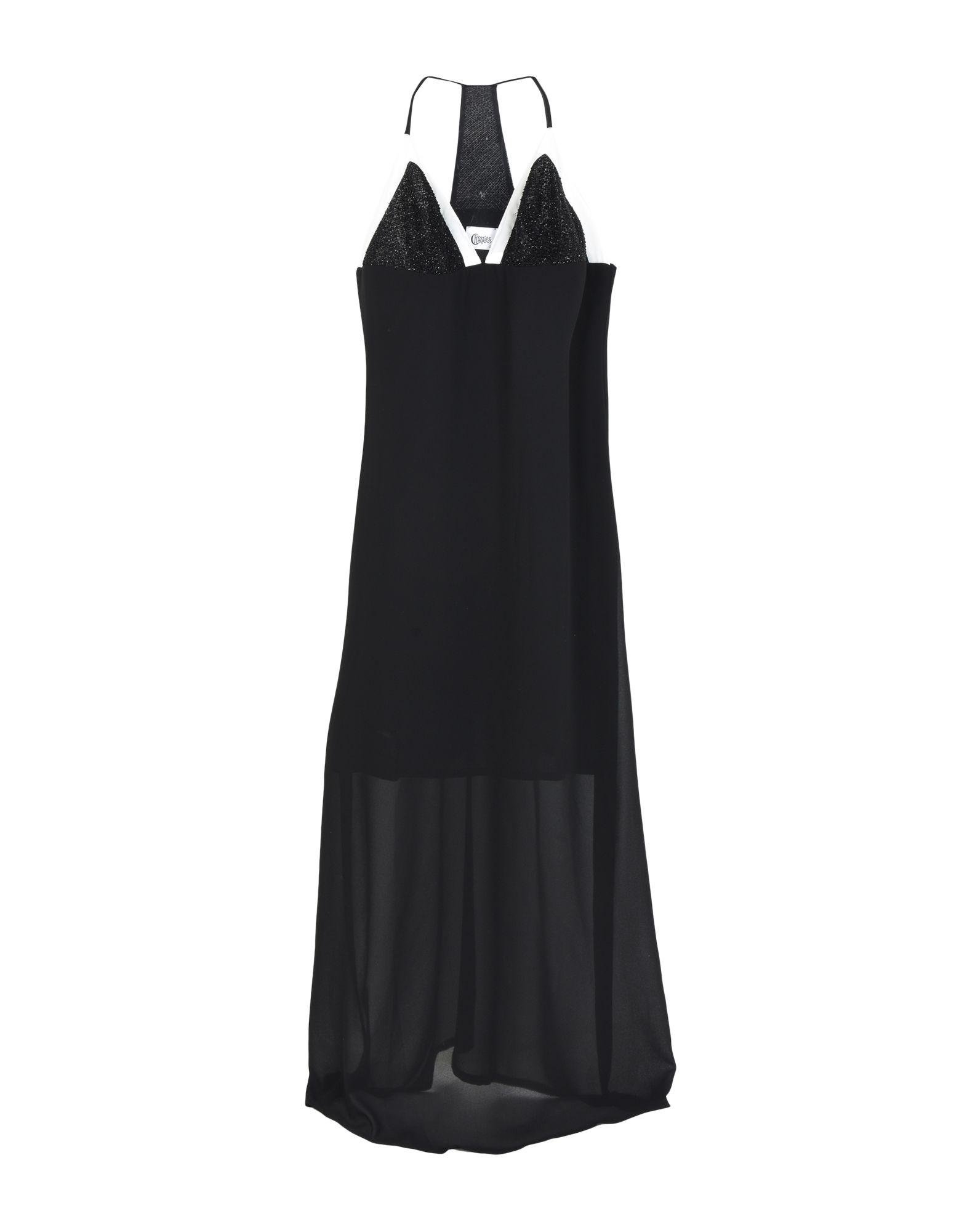 《期間限定セール開催中!》CHRISTIES レディース ロングワンピース&ドレス ブラック S ポリエステル 100%