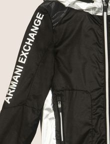 ARMANI EXCHANGE BOYS REFLECTIVE COLORBLOCK WINDBREAKER Jacket Man d