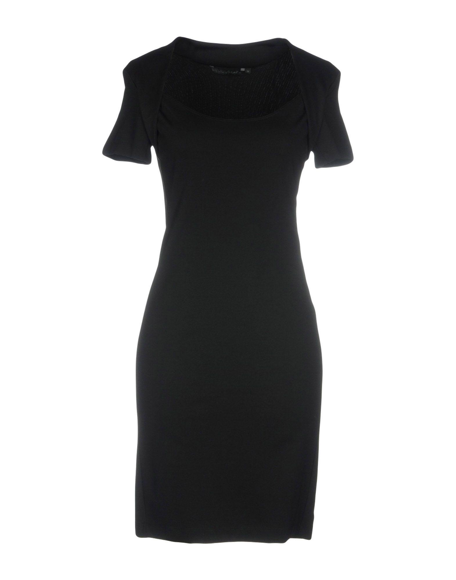 SILVIAN HEACH Короткое платье джинсы женские silvian heach moose veronica цвет черный pga18875je d black размер 26 42 44