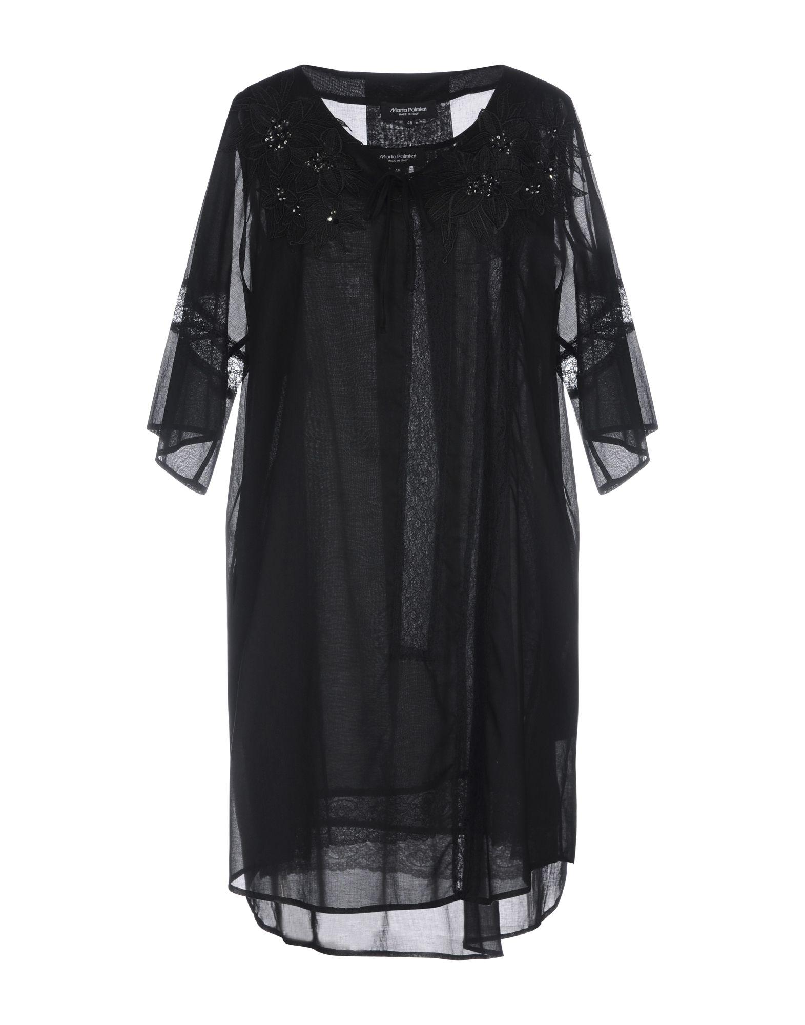 《セール開催中》MARTA PALMIERI レディース ミニワンピース&ドレス ブラック 44 コットン 100%