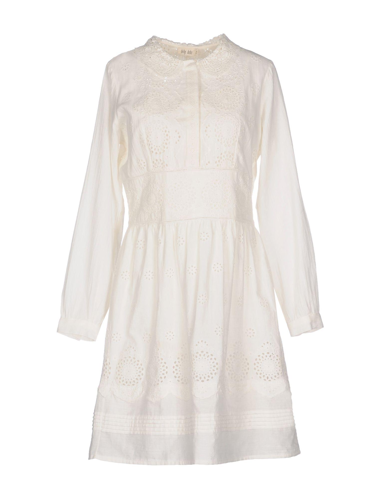 DEBY DEBO Short Dresses in White