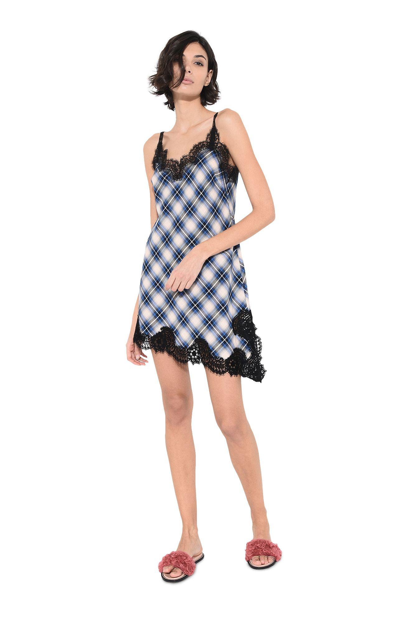 Платье-комбинация мини