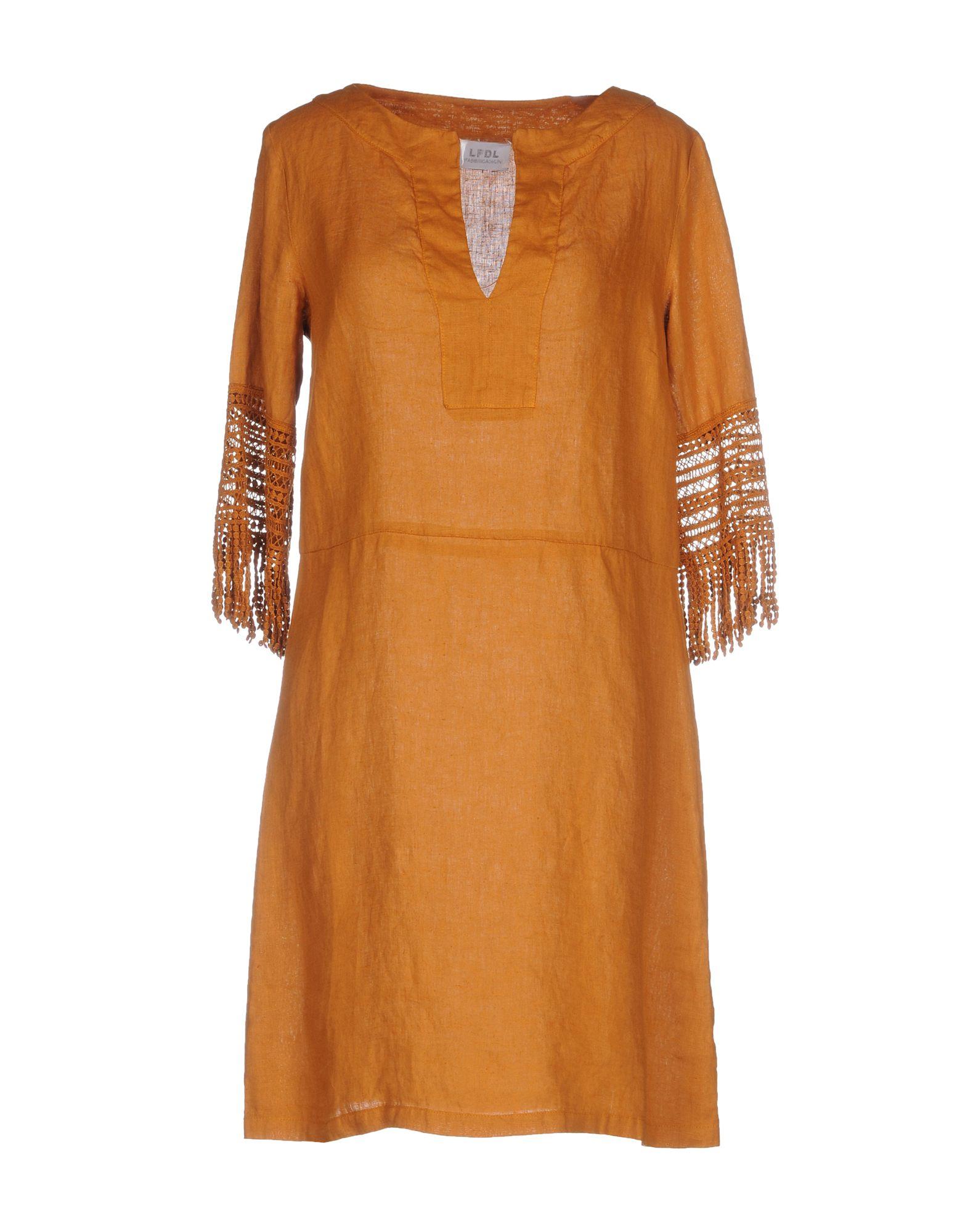 LA FABBRICA del LINO Платье до колена декор la fabbrica smart leaves ebony 48x48