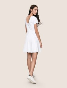 ARMANI EXCHANGE EYELET LACE FIT-AND-FLARE Mini dress Woman e